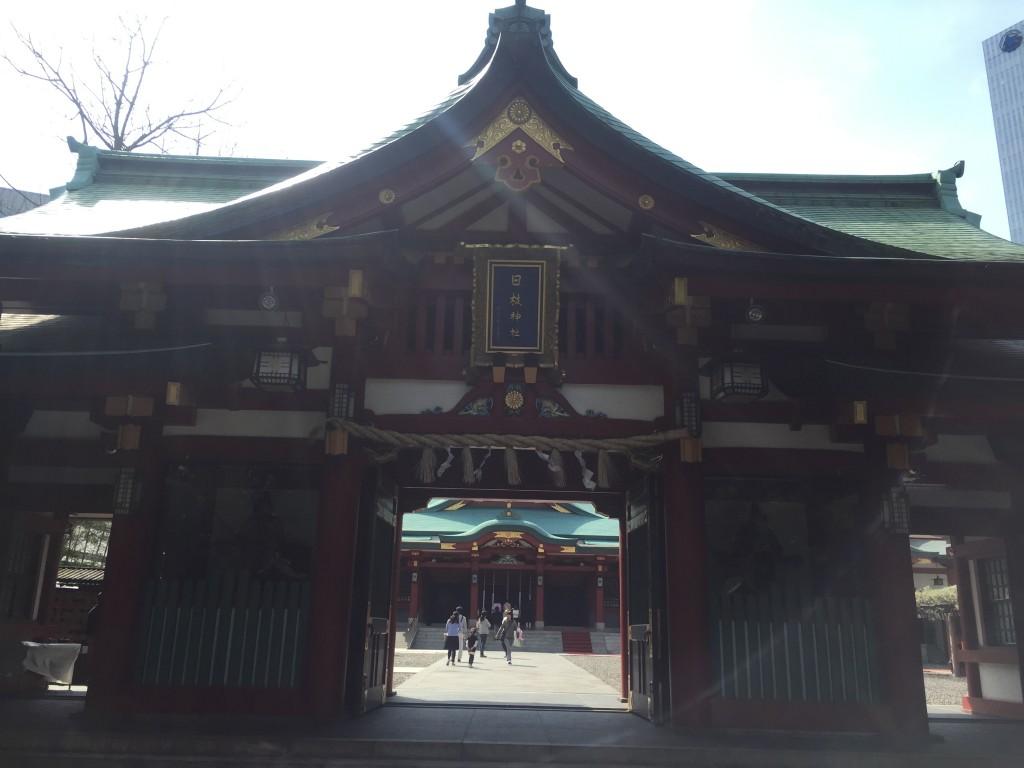 日枝神社 神門・本殿