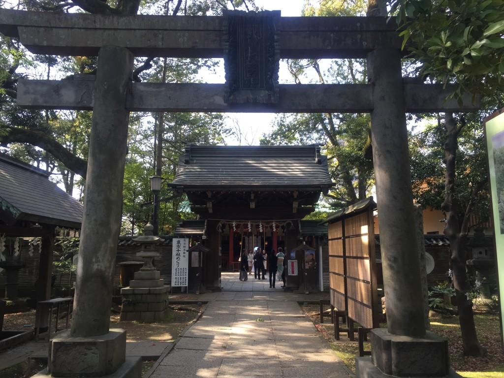 氷川神社 神門・本殿