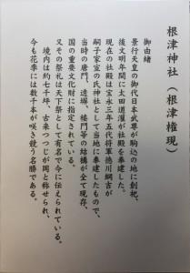 根津神社 御朱印 解説