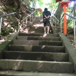 等々力渓谷 不動尊への階段