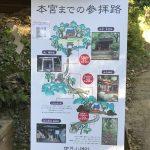 伊豆山神社 本宮参拝路標識