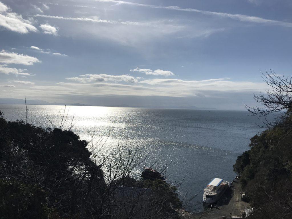 宝厳寺 竹生島から琵琶湖