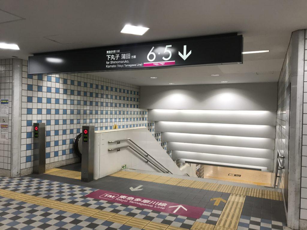 TM01_多摩川線ホーム行階段